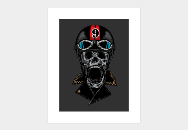 Death Racer Art Print - Design By Humans