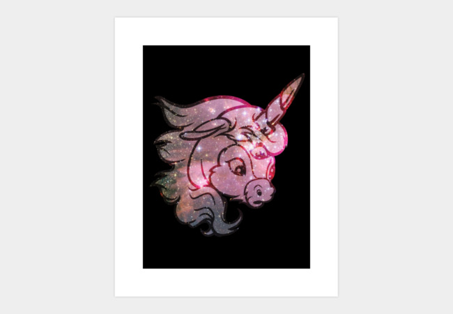 Cosmic Ünicorn Art Print - Design By Humans