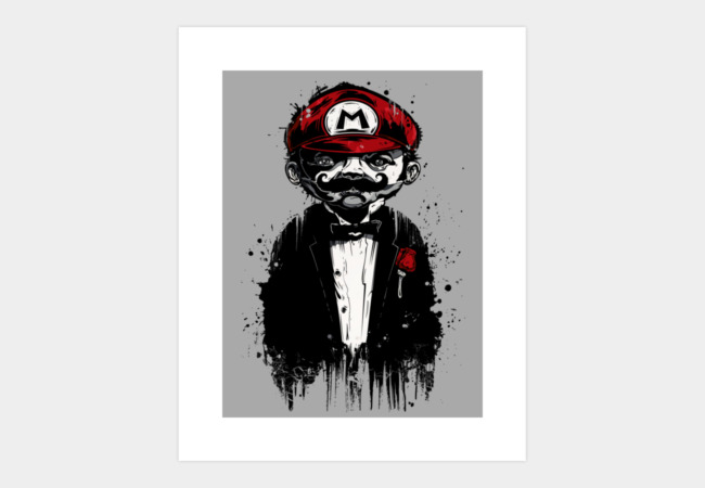 Super Mario Father Art Print - Design By Humans