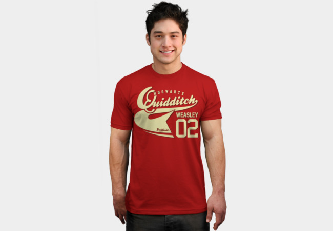 Quidditch Weasley Athletic Tee T-Shirt - Design By Humans