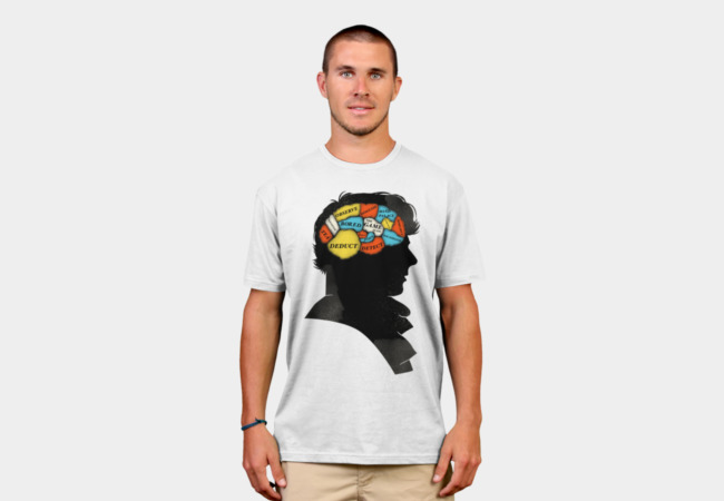 Sherlock Phrenology T-Shirt - Design By Humans