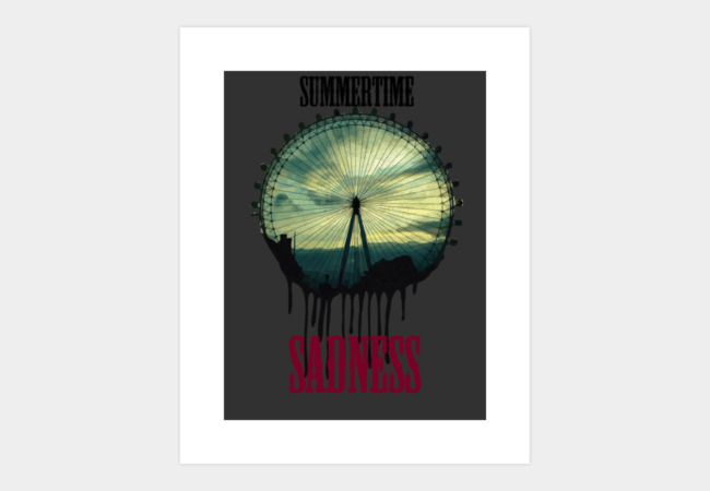 Summertime Sadness Art Print - Design By Humans