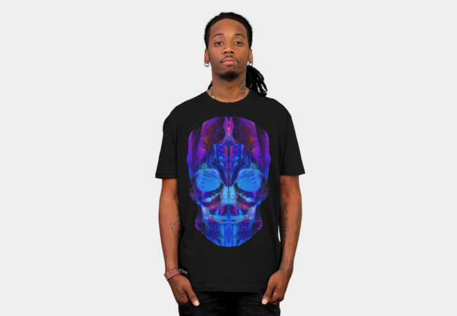 Neon Skull T-Shirt - Design By Humans