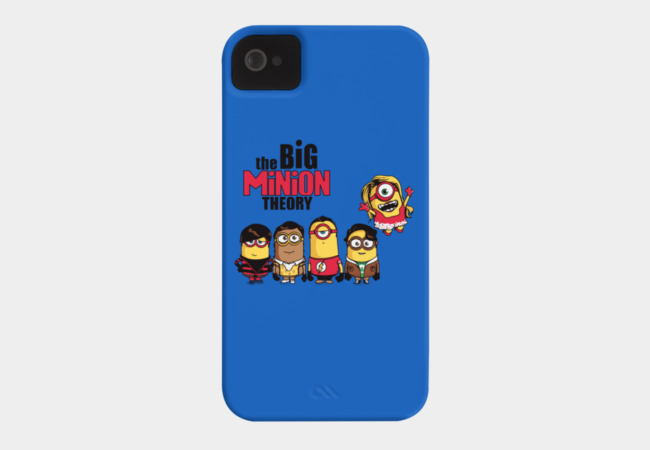 The Big Minion Theory Phone Case - Design By Humans