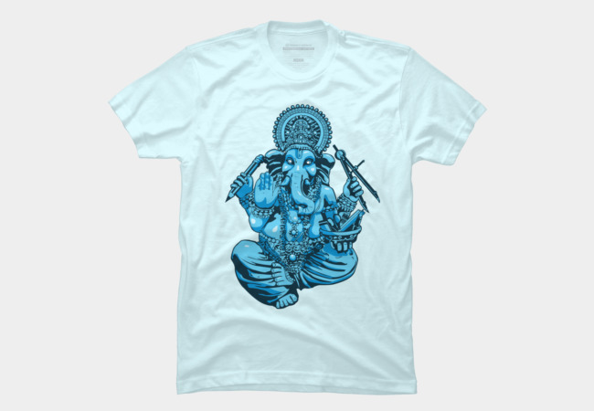 Ganesh Loves Vector! Men's T-Shirt