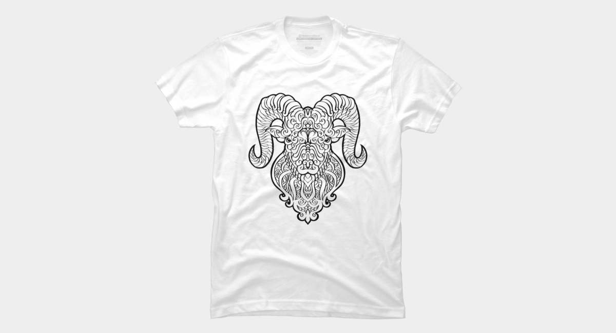 Aries Black T Shirt By Griffin45nn9z Design By Humans