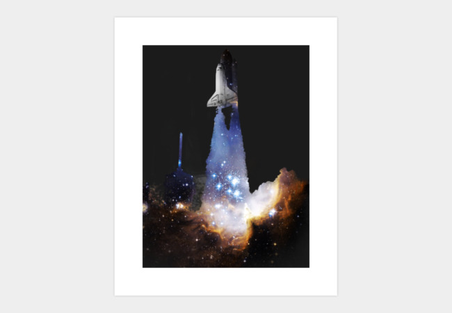 Blast Off Art Print - Design By Humans