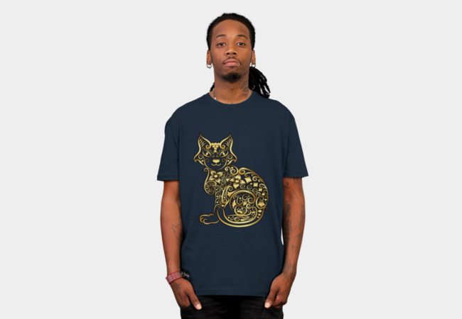 Golden Cat T-Shirt - Design By Humans