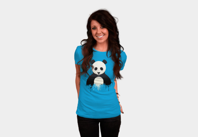 Panda Splatt T-Shirt - Design By Humans