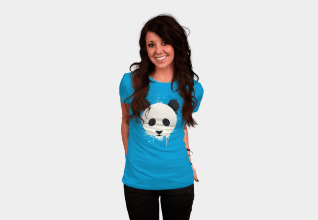 Panda Splat - Face T-Shirt - Design By Humans