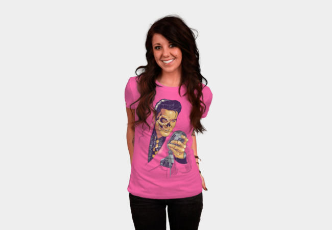 Elvis Skull T-Shirt - Design By Humans