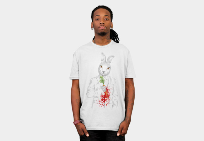 White Rabbit T-Shirt - Design By Humans