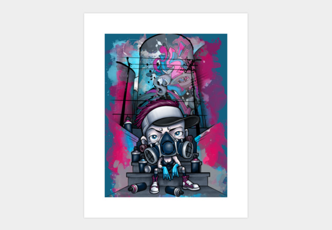 Graffiti Girl Art Print - Design By Humans