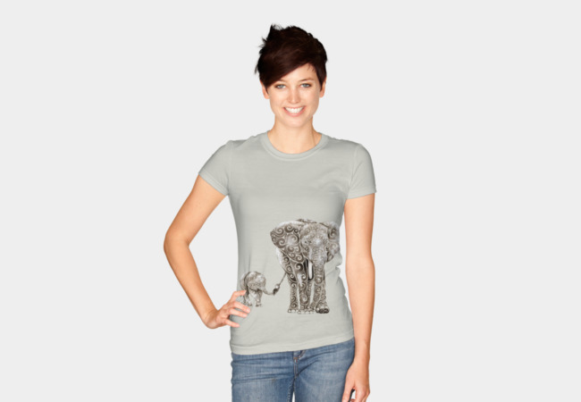 Swirly Elephants T-Shirt - Design By Humans