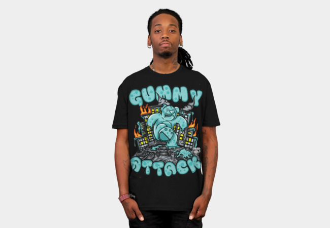 Gummy Attack T-Shirt - Design By Humans