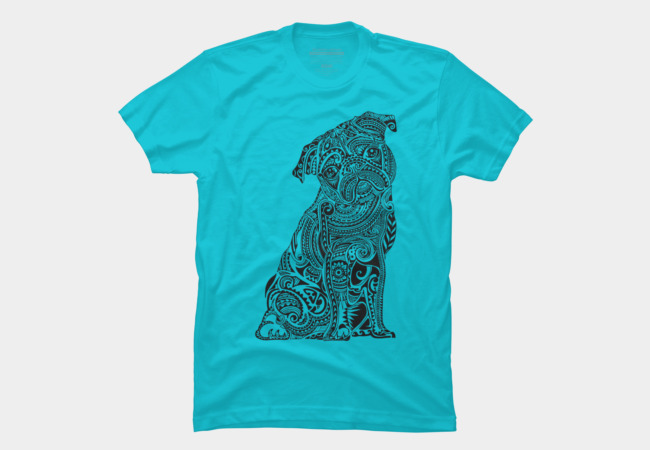Polynesian Pug Men's T-Shirt