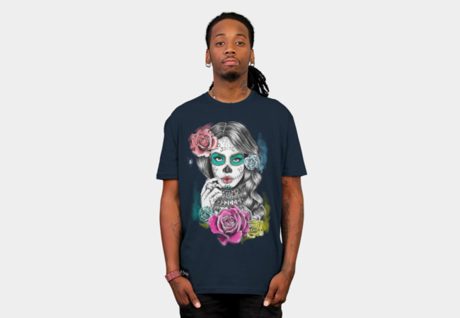 Aaliyah Day of the Dead T-Shirt - Design By Humans