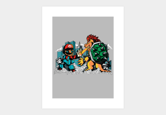 ULTRAPLUMBER VS BOWSILLA Art Print - Design By Humans