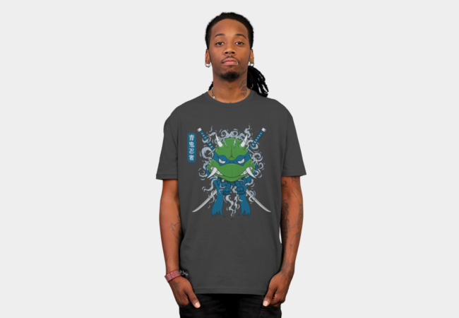 Blue Oni Ninja Turtle T-Shirt - Design By Humans