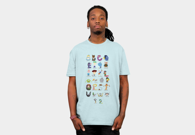 Animated characters alphabet T-Shirt - Design By Humans