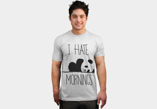 I hate mornings T-Shirt - Design By Humans