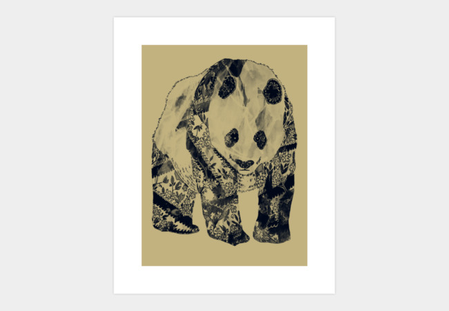 Tattooed Panda Art Print - Design By Humans
