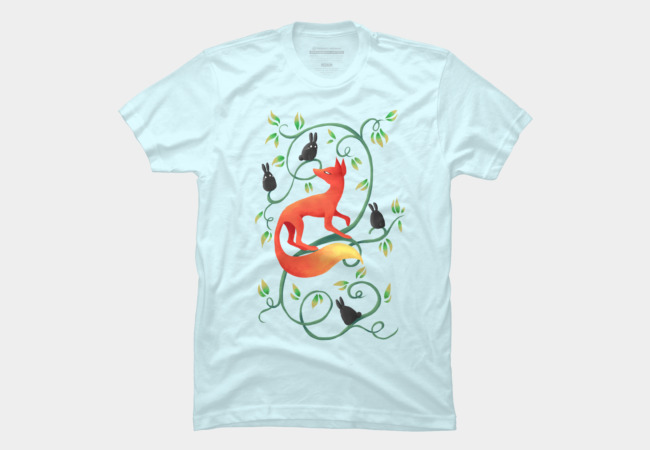 Bunnies and a Fox Men's T-Shirt