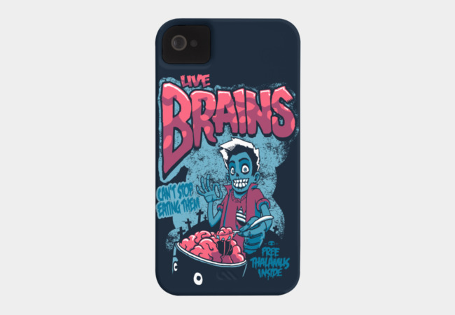 Live Brains Phone Case - Design By Humans