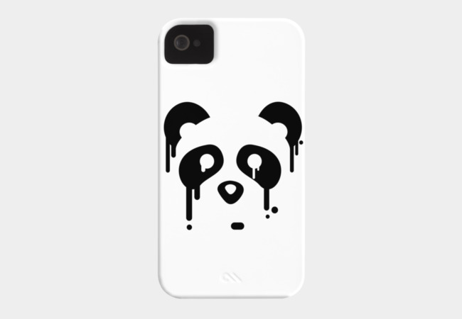 Panda Drips Phone Case - Design By Humans