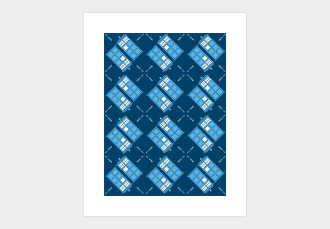 Gallifrey Argyle Art Print - Design By Humans