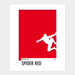 My Superhero 04 Spider Red Minimal Pantone po