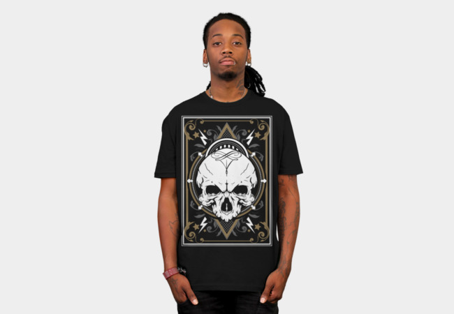 White Skull T-Shirt - Design By Humans