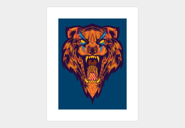 Tiger Tiger Art Print - Design By Humans