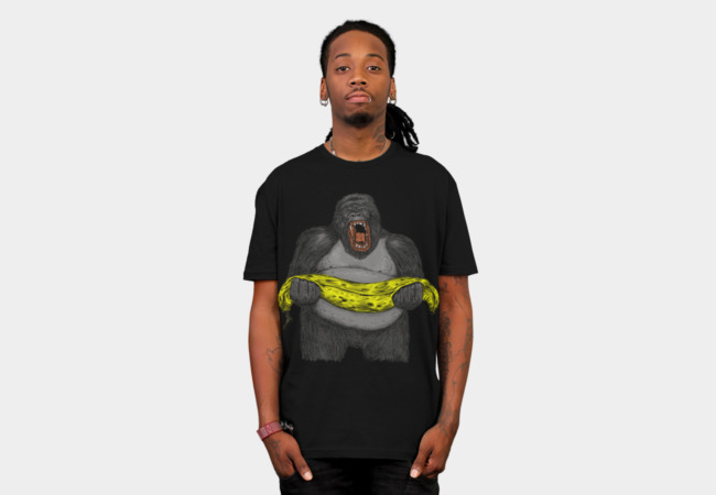GORILLA cry from death of banana T-Shirt - Design By Humans