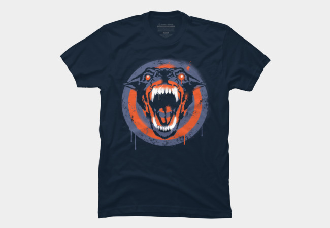 Spray Wolf Men's T-Shirt