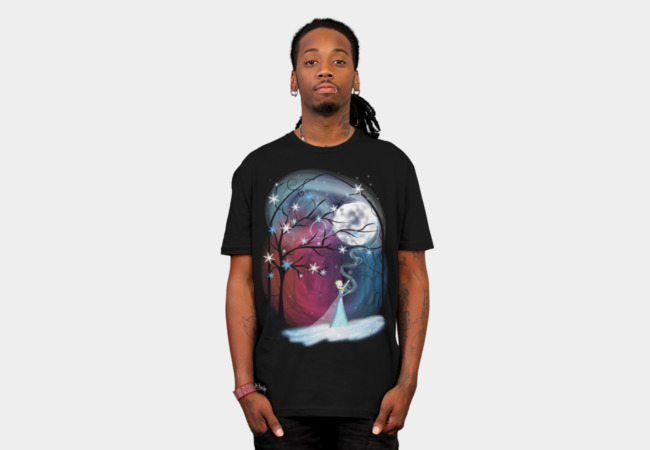 Wind and Snow under the Moon T-Shirt - Design By Humans