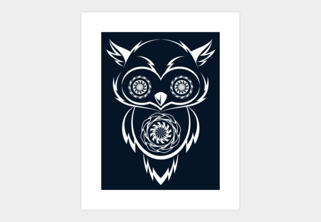 Night Owl 2.0 Art Print - Design By Humans