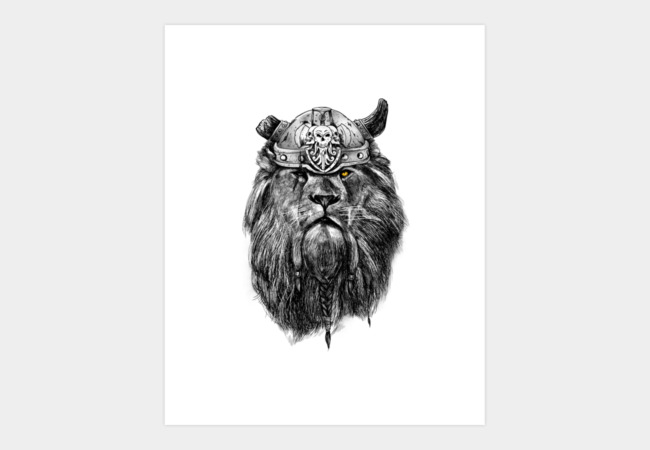 The eye of the Lion Vi/king Art Print - Design By Humans