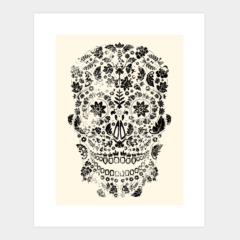 Distressed Day of the Dead Skull