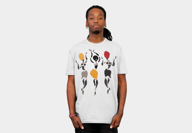 African dancers silhouette. T-Shirt - Design By Humans