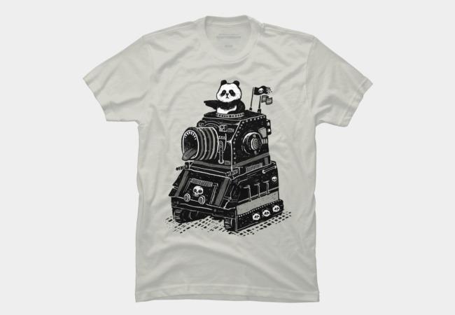 Panda's Terrible Tank of Terror Men's T-Shirt