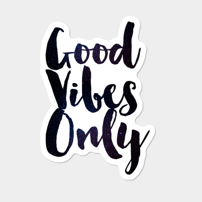 25fa99a5b378 Good Vibes Sticker By ZenandChic Design By Humans