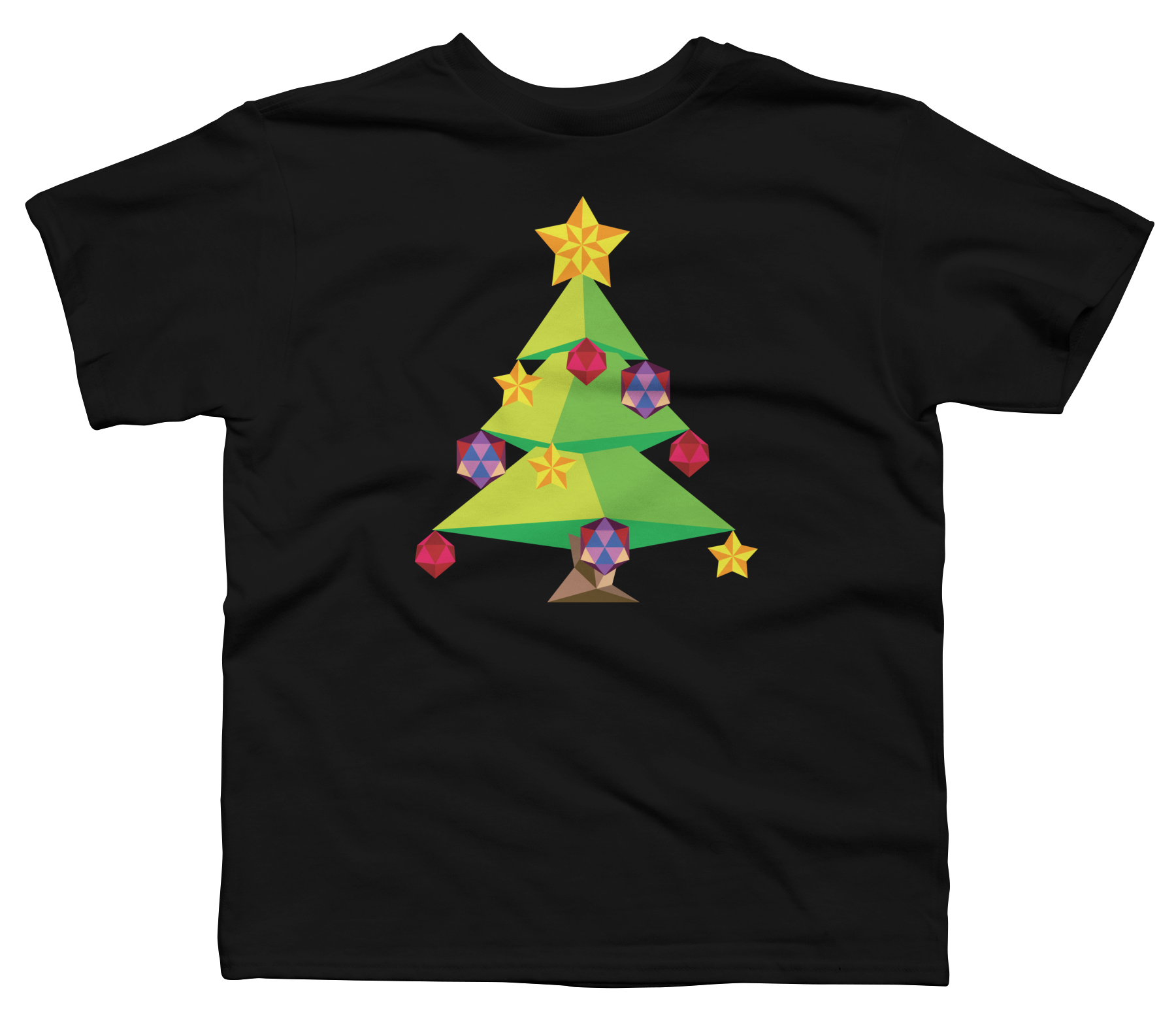 Green Polygonal Xmas tree Boy's T-Shirt