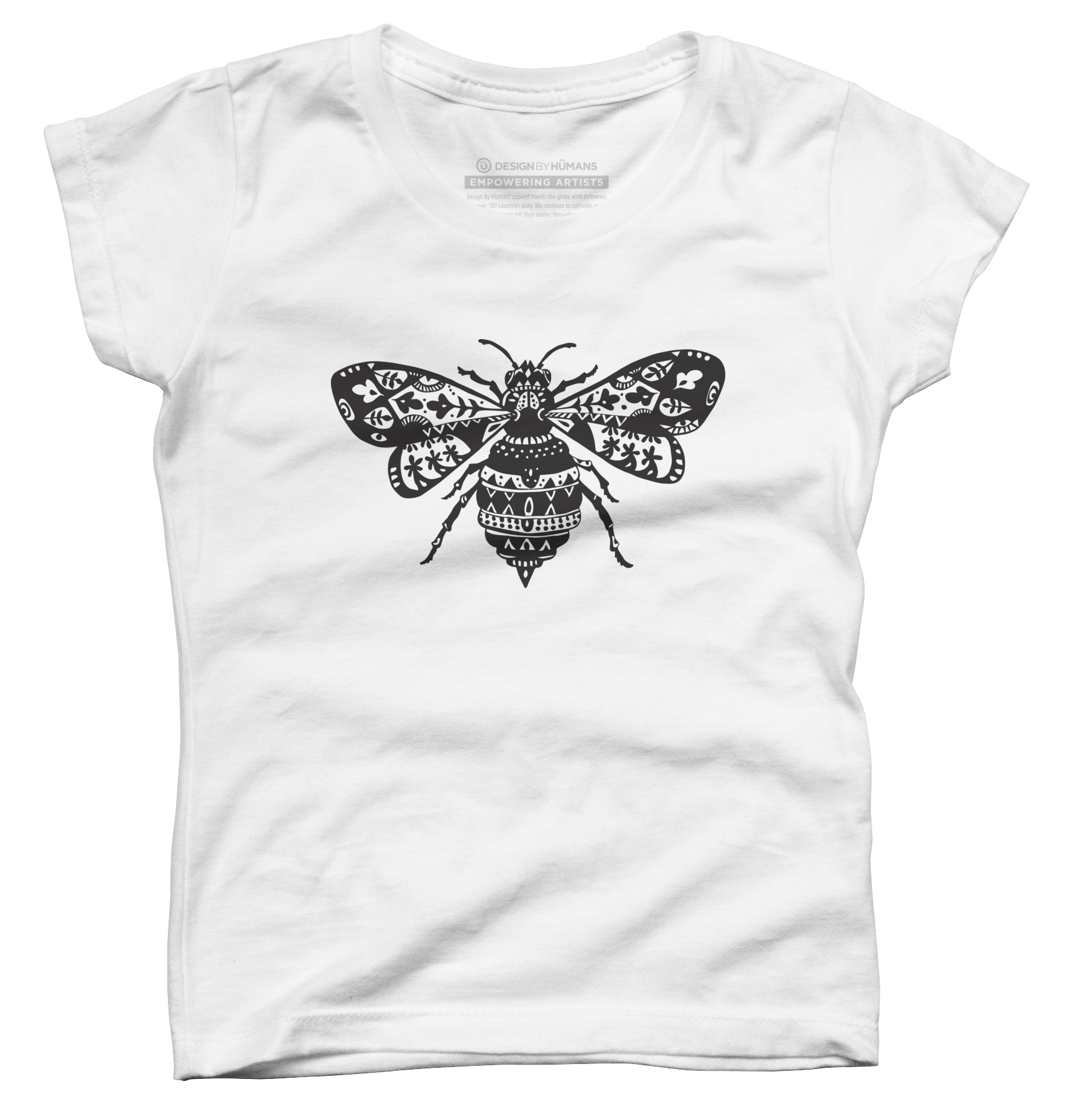 Fantastic Bee in Black Girl's T-Shirt