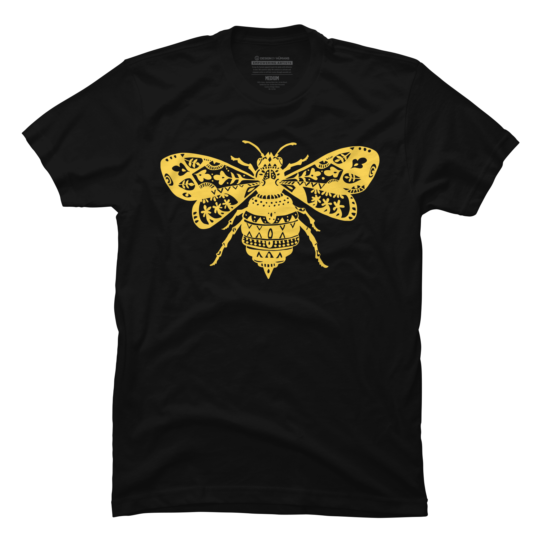 Fantastic Bee in Yellow Men's T-Shirt