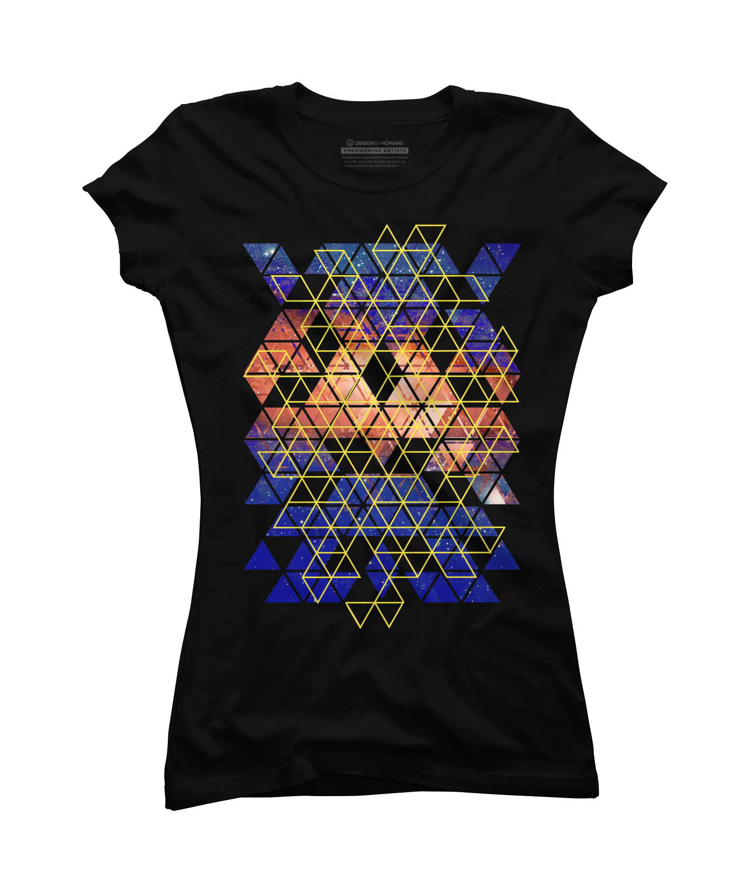 Abstract Geometric Triangles Galaxy Collages Women's T-Shirt
