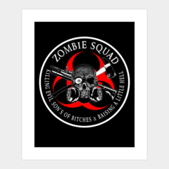 Biohazard Zombie Squad 3 Ring Patch