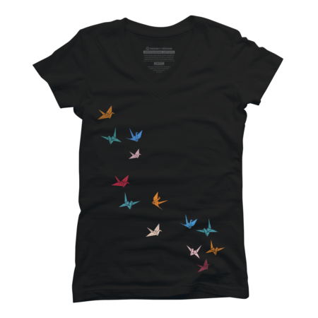 Flying Paper Cranes Birds