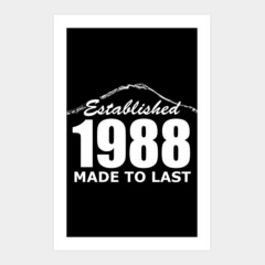 Established 1988 Made To Last