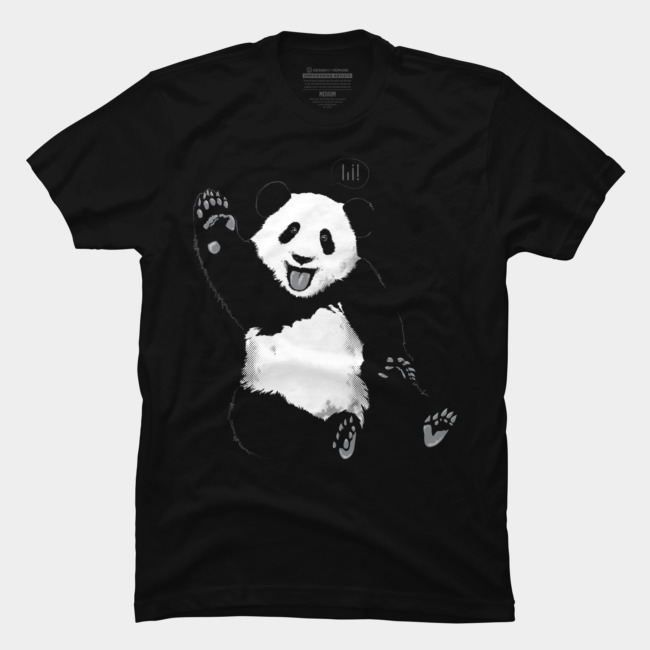 T Hi Panda By Shirt Humans Johnthan Design b76vYfgy